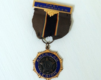 American Legion Past Commander Medal Pin