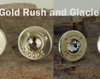 Bullet Earrings - TWO PAIR SPECIAL - Starline Colt 45 - Ultra Thin