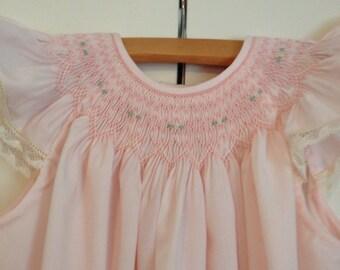 Toddler Girl Smocked Bishop Dress Size 18 mo.