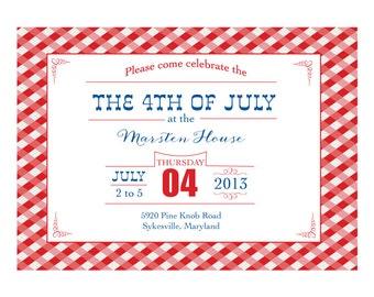 PRINTABLE July 4th Invitation