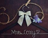Wedding Hanger - Bridal Hanger - Dress Hanger Wire - Personalized Custom Wedding Hanger - Personalized Hanger