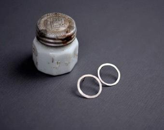 Sterling Silver Hoop Stud Earrings
