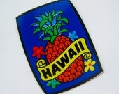 Vintage 70s Hawaii NOS Hawaiian Pineapple Tropical Island Vinyl Decal Honolulu