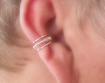 Ear Cuff Princess Beaded Cartilage Cuff Choice