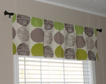 """Waverly Sweet Spot Valance 50"""" wide x 16"""" long Lined with Cotton Muslin Brown Green Tan"""