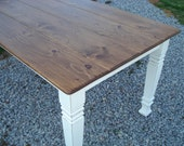 Farm Style Kitchen Table, White Shabby Chic Farm Tables