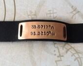 Supernatural Inspired Bracelet....Lawrence, Kansas Co-ordinates
