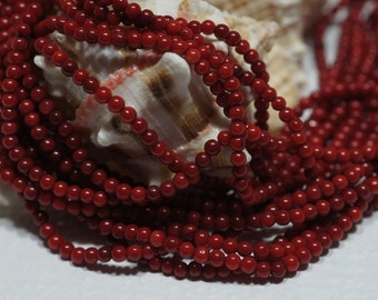 Natural Red Coral 5.7mm Beads Gemstone Beads Supplies Jewelry Making Supplies