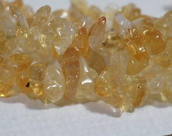 Citrine Free Form Nugget Beads Gemstone Beads Half Strand Jewelry Making Supplies