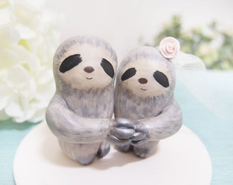 sloth wedding cake topper popular items for sloth cake topper on etsy 20197
