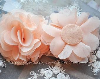 Ivory Lace Applique for Bridal Headware Wedding Dress Decor 2'S