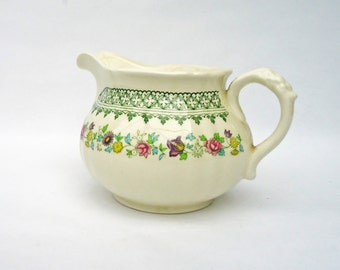 1960's Mason's Patent Ironstone Madrigal Pattern Cream Jug - Made in England, UK Seller