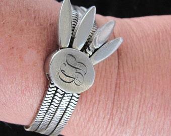 Vintage MONET Silver Chain Bracelet