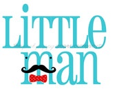 Little Man Mustache Nursery Print: 5x7 (you choose colors)