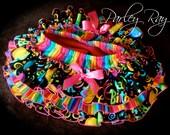 Parley Ray Rainbow Happy Birthday All Around Ruffle Skirt Baby Bloomers/ Diaper Cover / Photo Props