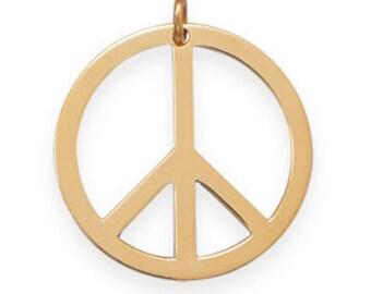 14K / 20K Gold Filled PEACE SIGN Pendant