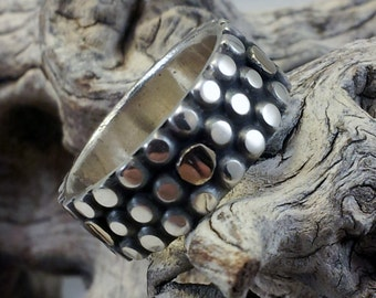 Ring Sterling Silver with Gold Accents