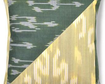 Ikat Pillow, Ikat Pillow Cover - Forest Sunrise - 4043, Ikat throw pillows, Designer pillows, Decorative pillows, Accent pillows