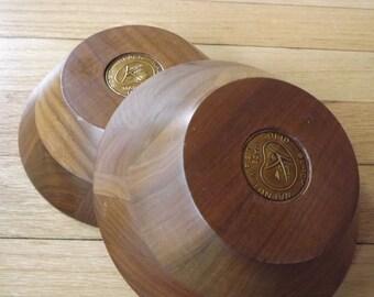 Black Walnut Kustom Kraft Bowls/Beautiful Solid Black Walnut Bowls