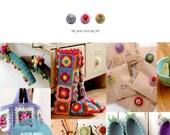 Kazuko Ryokai - Colorful Crochet and Knitting Accessories - Crochet Craft Pattern Book