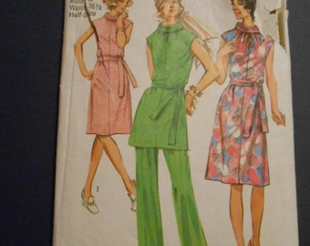 Vintage Simplicity 9329, Dress, Tunic, Pants, size: 20 1/2