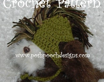 Instant Download Crochet Pattern - Mohawk Dog Hat for Medium to Large Dogs