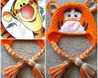 Crochet Tigger Beanie/Hat