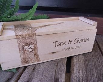Wine Box, Wedding Wine Box, Gift for Bride and Groom, Wedding Gift, WIne Box Ceremony, Anniversary Gift,
