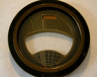 Vintage Art Deco World Radio Face of Copper and Glass