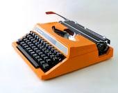 Vintage typewriter orange  - SilverReed from 70s