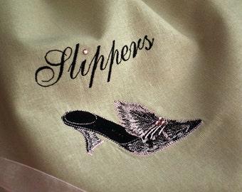 Mule Slipper Shoe Bag with Drawstring Closure