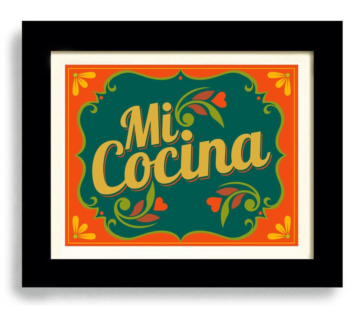 Mexican Kitchen Art Print Decor I Love My Kitchen Decor Mi