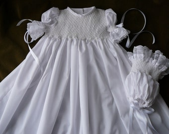 The.....Rejoice    Christening Gown  W/Bonnet.......By The My Collection 2