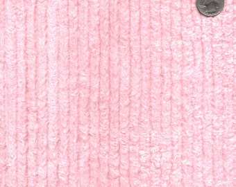 """56"""" 10oz Pink Cotton Chenille Fabric-13 Yards Wholesale By The Bolt"""