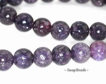 8mm Mauve Lepidolite Gemstone Grade Aa Dark Purple Round 8mm Loose Beads 8inch Half Strand (90146441-161)