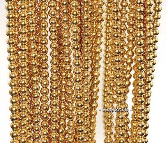 3mm Gold Hemati... Gold Hematite Beads