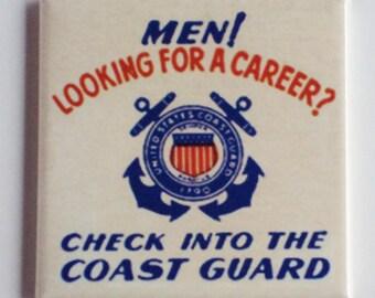 Coast Guard Sign Fridge Magnet (2 x 2 inches)