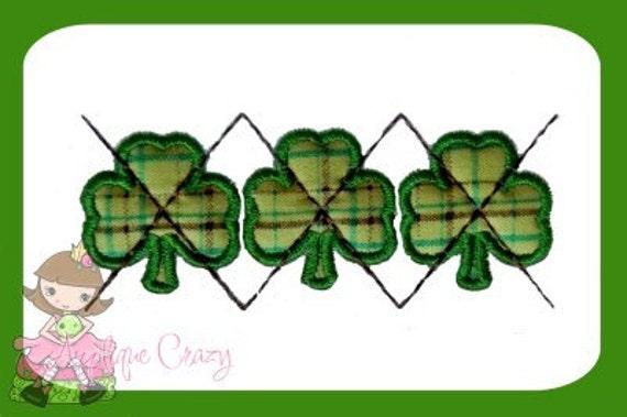 Shamrock Argyle Applique Embroidery design