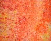 Ice Dyed  Fabric, Hand Dyed Quilt Cotton, Citrus Sunshine, 1 Yard (MH) #203