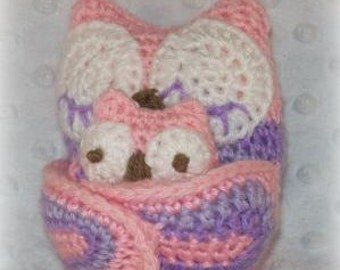Mama Owl and Baby Owl Crochet Pattern