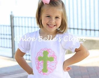 Girls Cross Ruffle Shirt