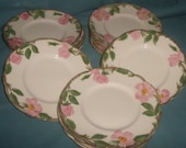 Franciscan Desert Rose 6in saucer plate
