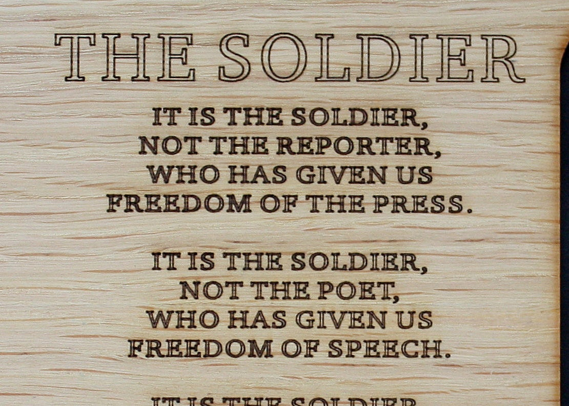 8x10 The Soldier Poem Army Custom Wood Picture Mat Insert For