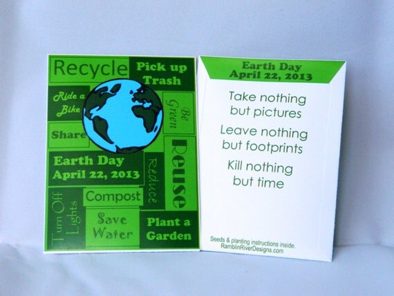 Earth Day Flower Seed Packet, Includes Seed