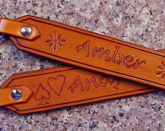 Leather Key ID Tag/Holder