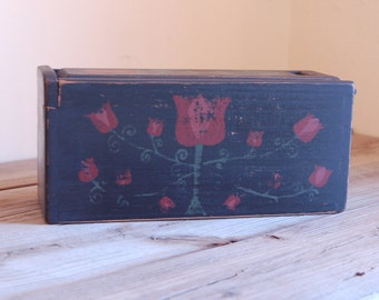 Folk Art Candle Box