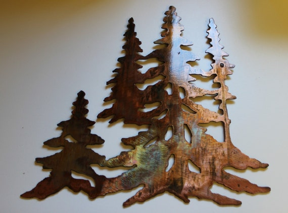 Wall Decor Pine Trees : The pines trees in copper by heavensgatemetalwork on etsy