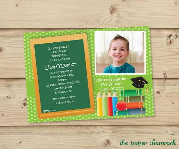 Kindergarten Graduation Invitation Wording for luxury invitations design