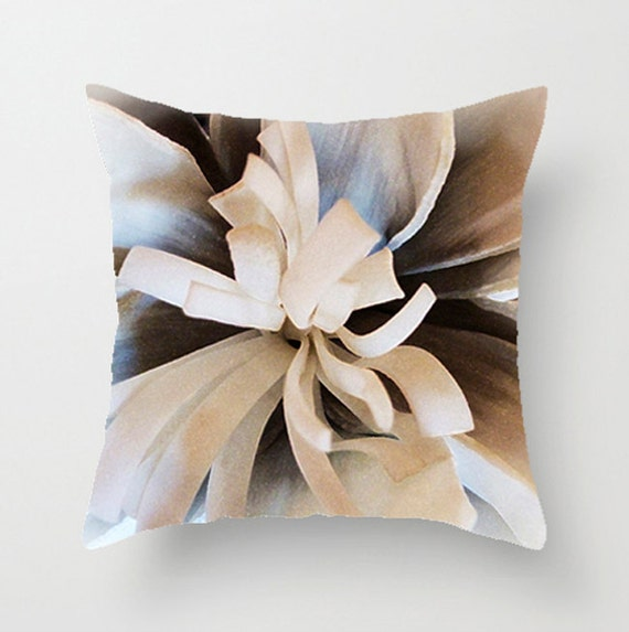 Decorative Throw Pillows Etsy : Pillow Cover Dahlia 16x16 18x18 20x20 Home Decor by ArtBJC on Etsy