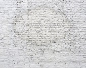 10ft x 8ft Distressed White Brick Wall / PERFECT for Newborns and Children